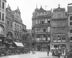 Stary Rynek w Poznaniu, kamienice, zdjęcie archiwalne